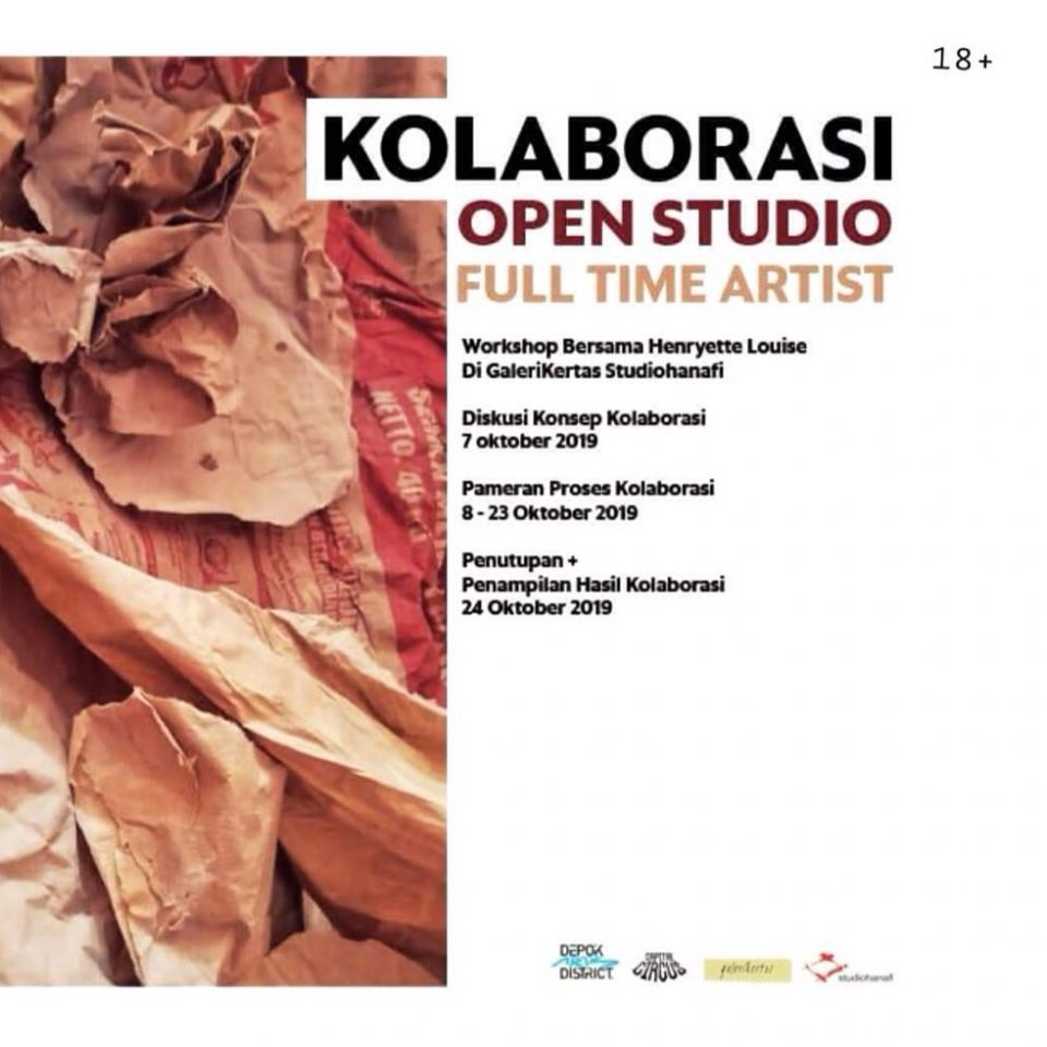 E-poster KOLABORASI OPEN STUDIO FULL TIME ARTIST